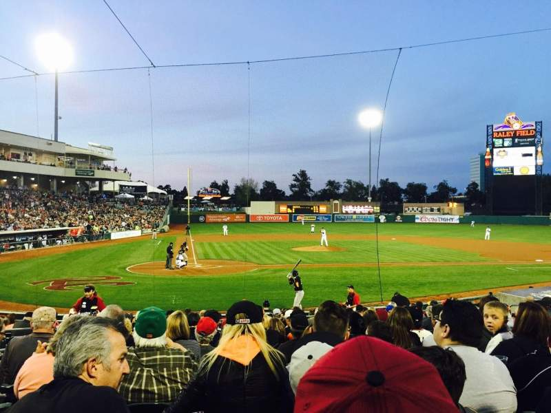 Seating view for Raley Field Section 109 Row 15 Seat 7