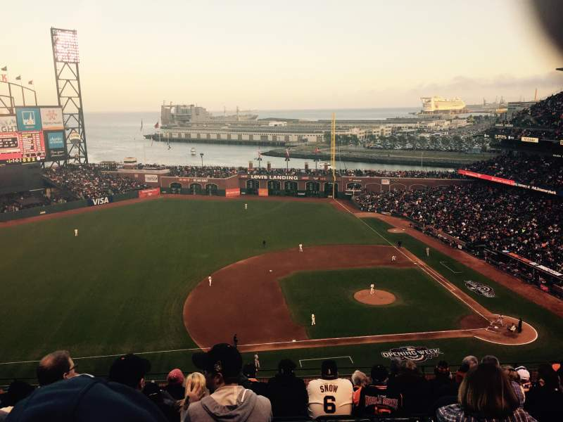 Seating view for AT&T Park Section 324 Row 7 Seat 12