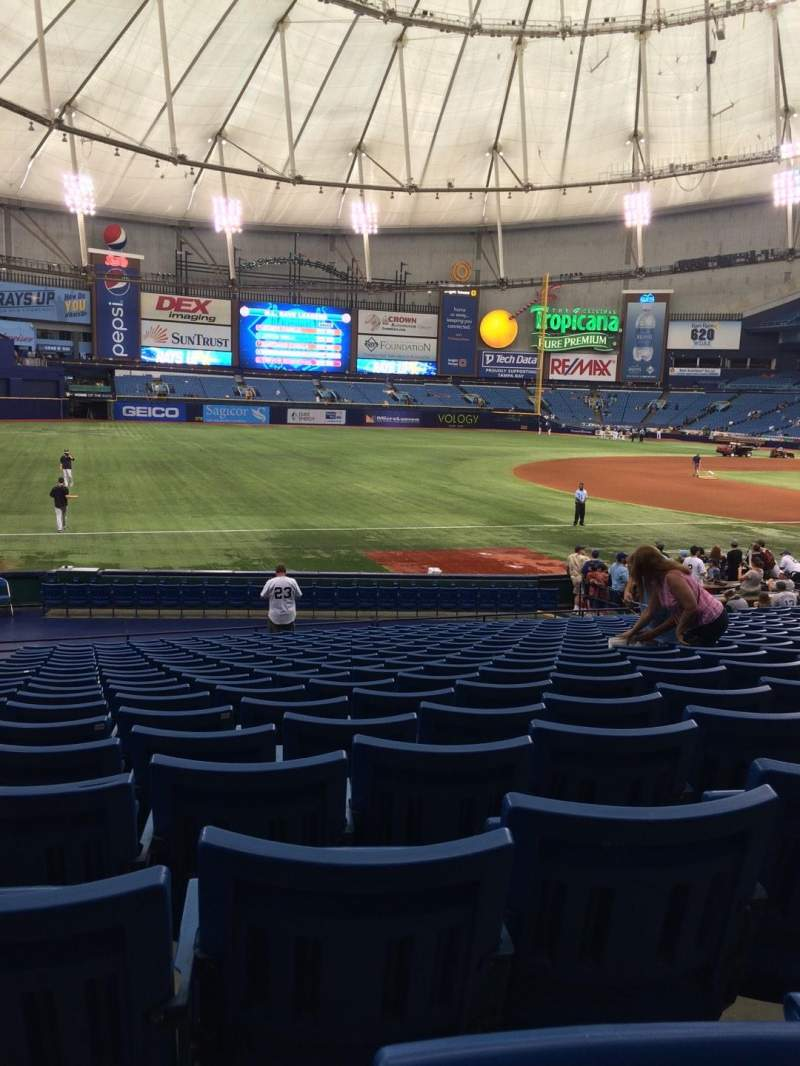 Seating view for Tropicana Field Section 127 Row AA Seat 2