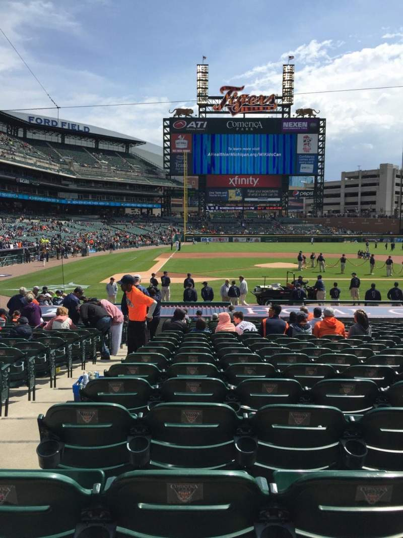 Seating view for Comerica Park Section 123 Row 25 Seat 9