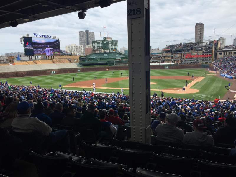 Seating view for Wrigley Field Section 218 Row 11 Seat 4