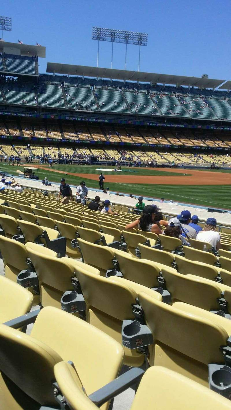 Seating view for Dodger Stadium Section 42FD Row p Seat 6