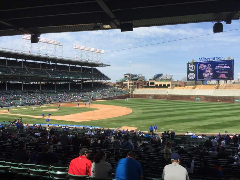 Seating view for Wrigley Field Section 236 Row 11 Seat 103