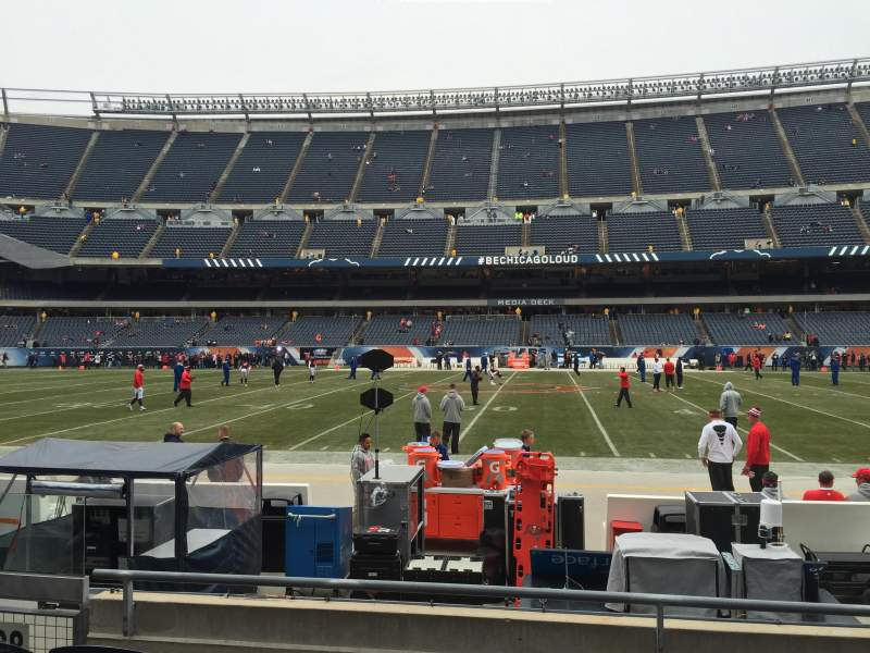 Seating view for Soldier Field Section 108 Row 4 Seat 4