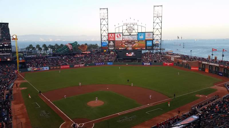 Seating view for AT&T Park Section VB 313 Row E Seat 7