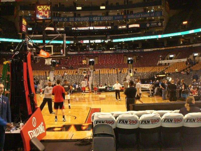 Seating view for Air Canada Centre Section 102 Row E Seat 9
