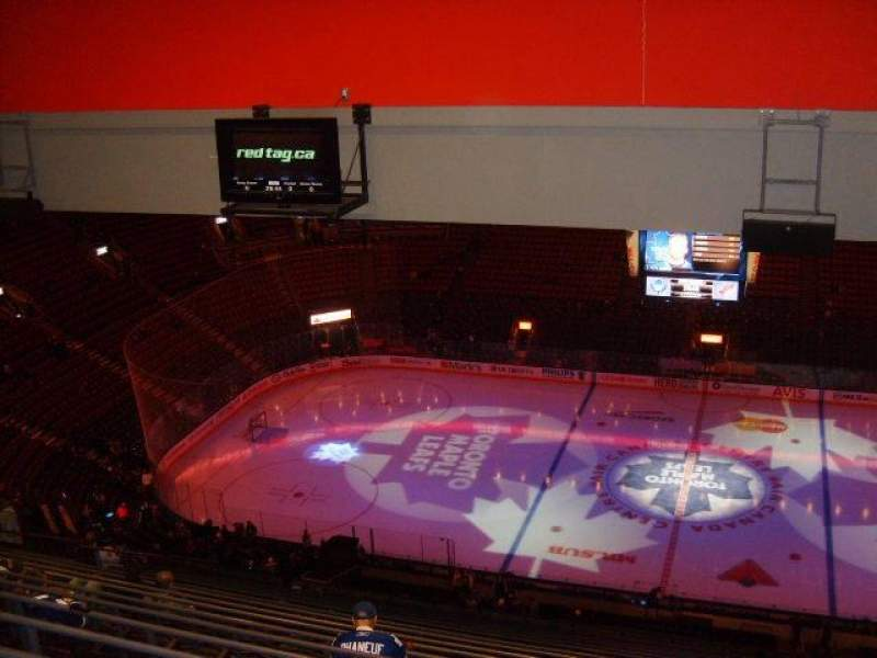 Seating view for Air Canada Centre Section 321 Row 19 Seat 9