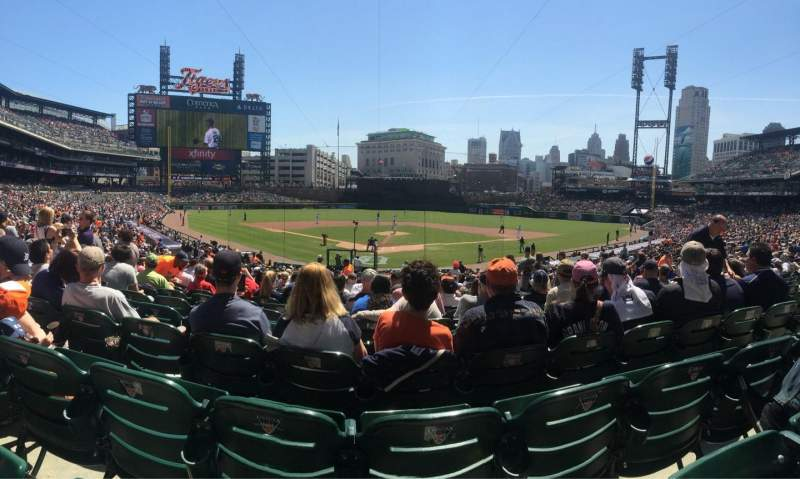 Seating view for Comerica Park Section 127 Row 35 Seat 8