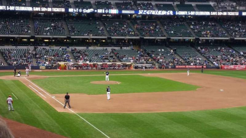 Seating view for Miller Park Section 207 Row 2 Seat 13