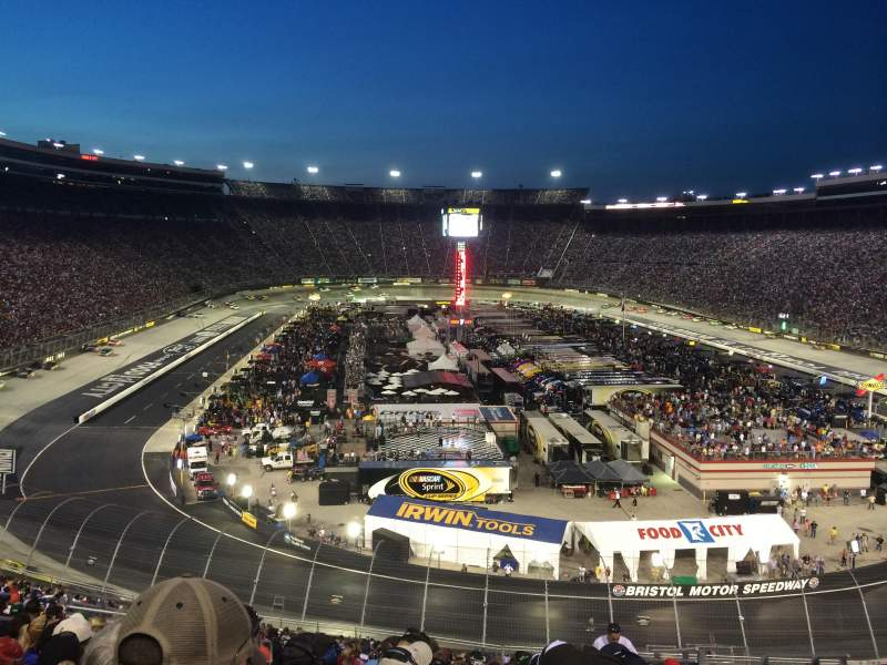 Seating view for Bristol Motor Speedway Section U Row 41 Seat 5