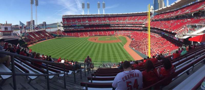 Seating view for Great American Ball Park Section 405 Row U Seat 24