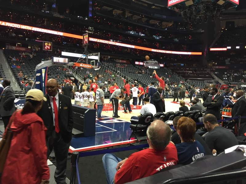 Seating view for Philips Arena Section 117 Row B Seat 9