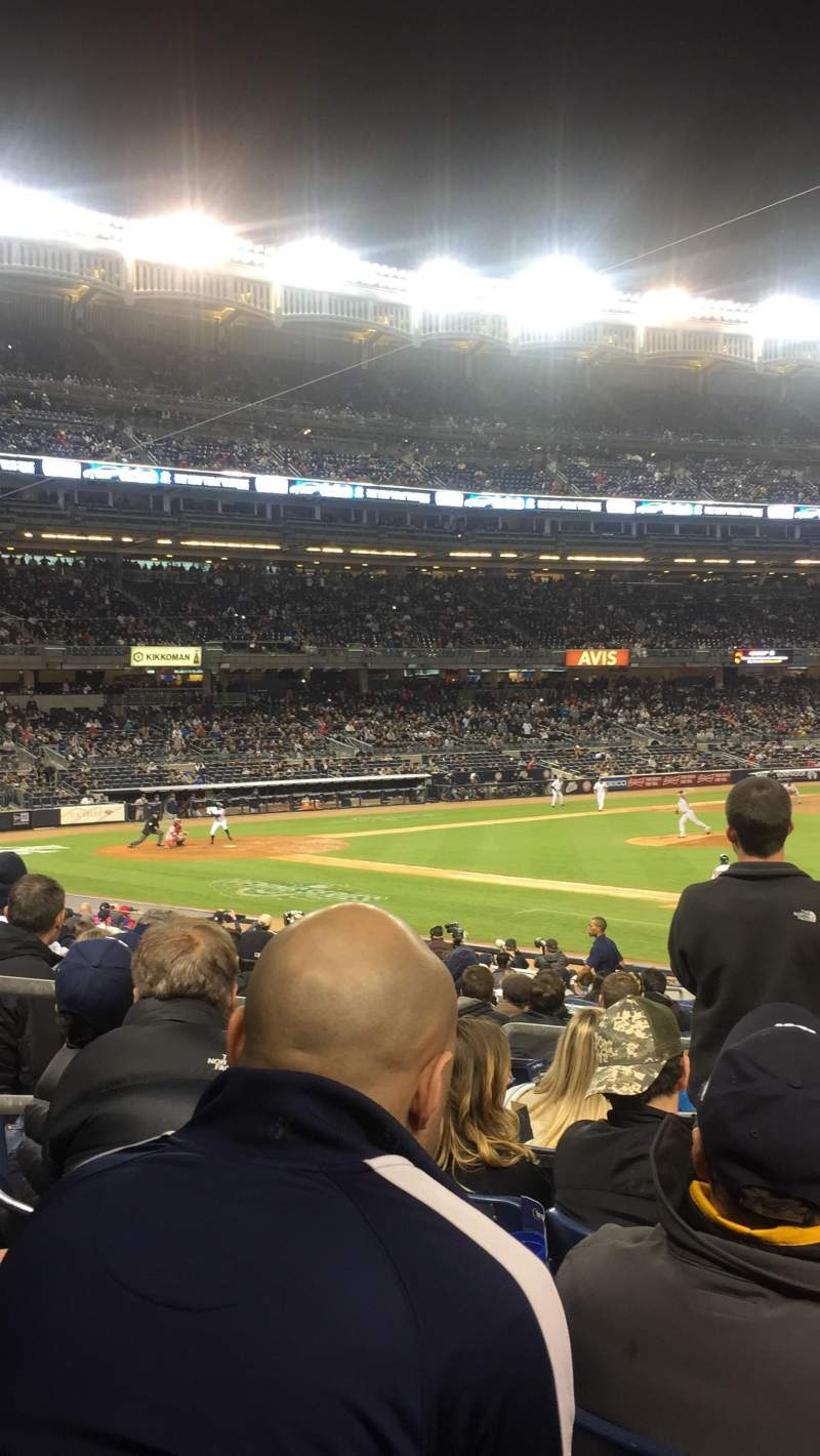Seating view for Yankee Stadium Section 114 B Row 22 Seat 9