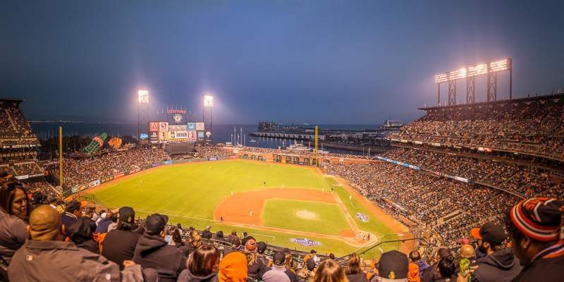 Seating view for AT&T Park Section 323 Row 7 Seat 5