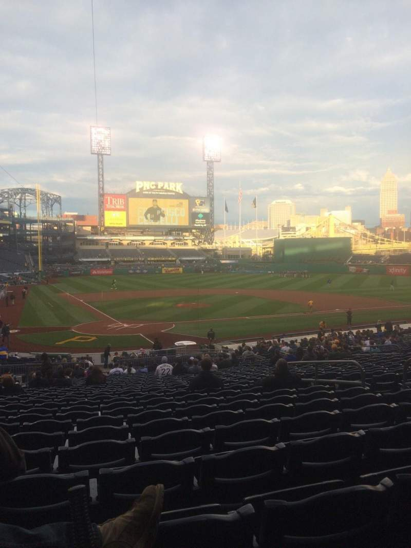 Seating view for PNC Park Section 114 Row Z Seat 26