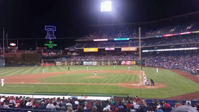 Seating view for Citizens Bank Park Section 127 Row 25 Seat 15