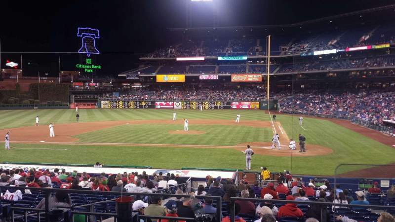 Seating view for Citizens Bank Park Section 128 Row 25 Seat 1