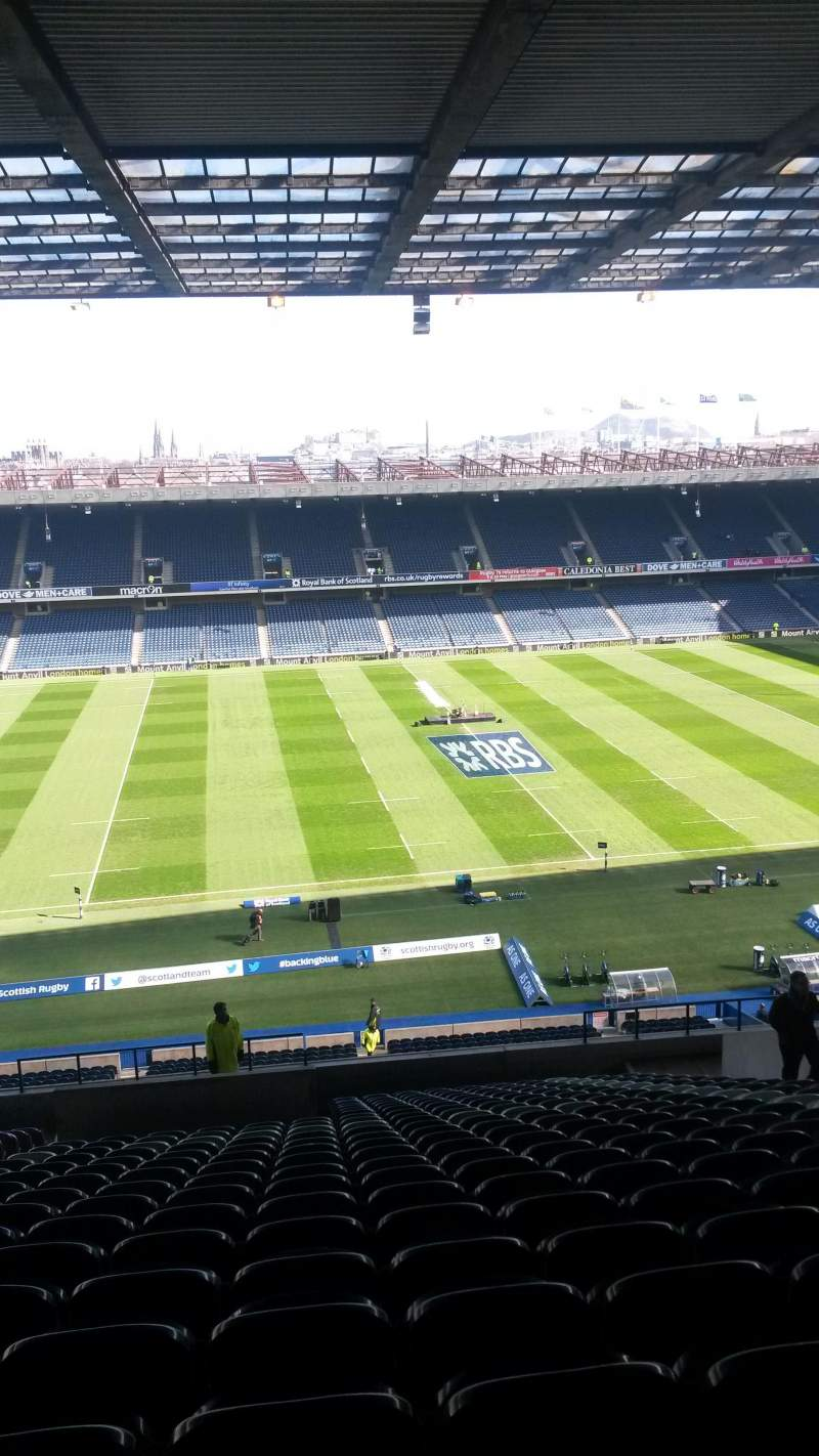 Seating view for Murrayfield Stadium Section W28 Row MM Seat 1