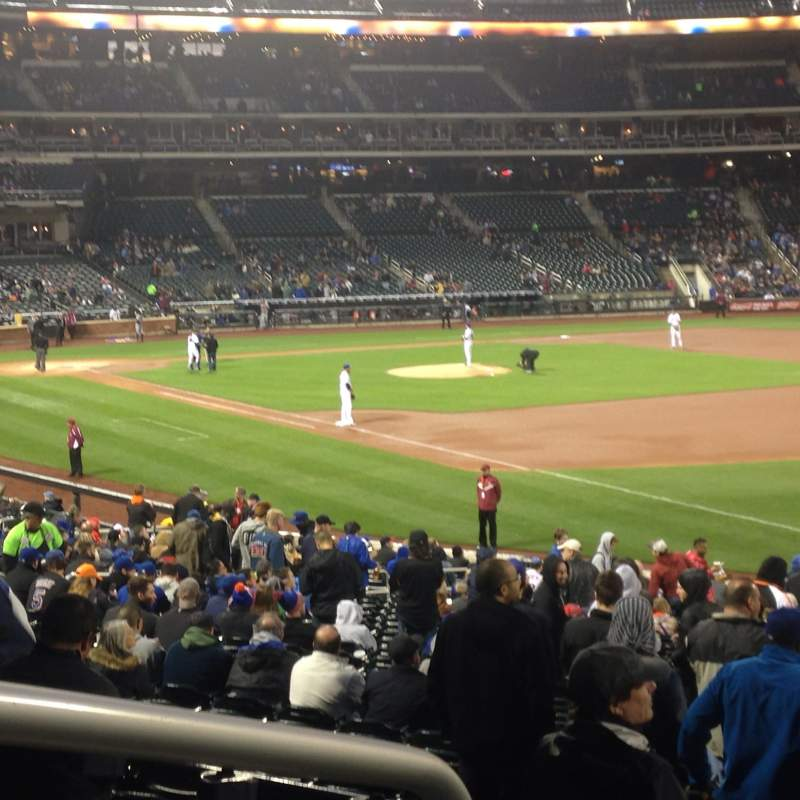Seating view for Citi field Section 108 Row 27 Seat 1