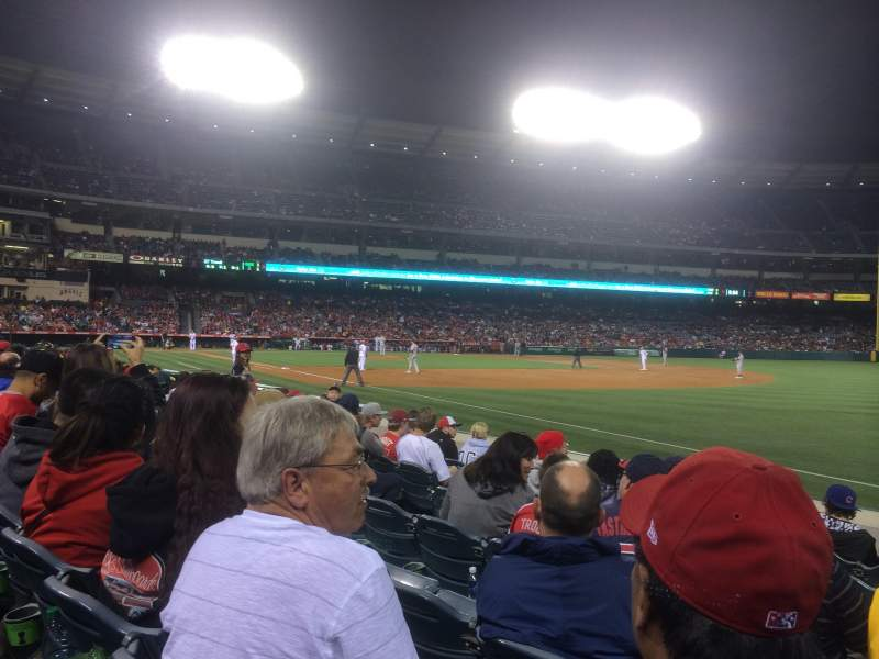 Seating view for Angel Stadium Section F129 Row G Seat 8