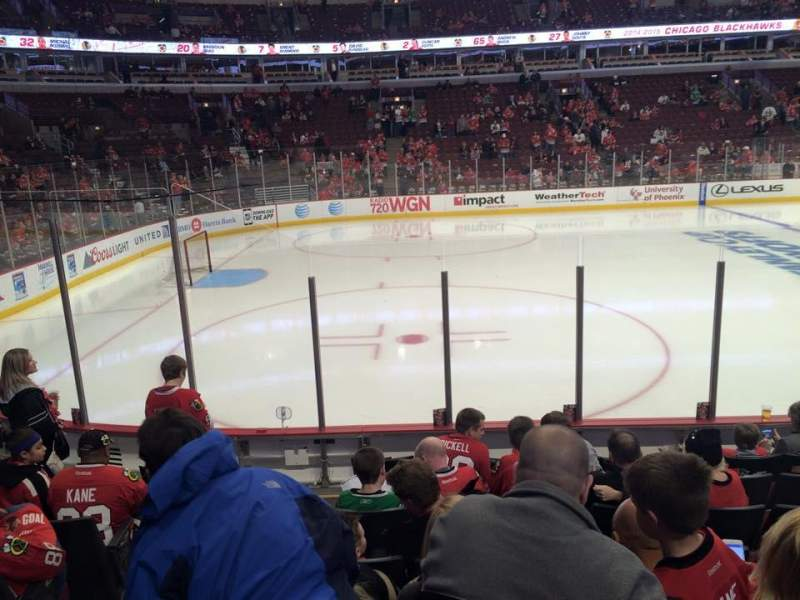 Seating view for United Center Section 102 Row 8 Seat 19