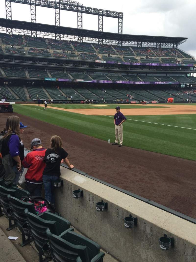 Seating view for Coors Field Section 117 Row 3 Seat 13