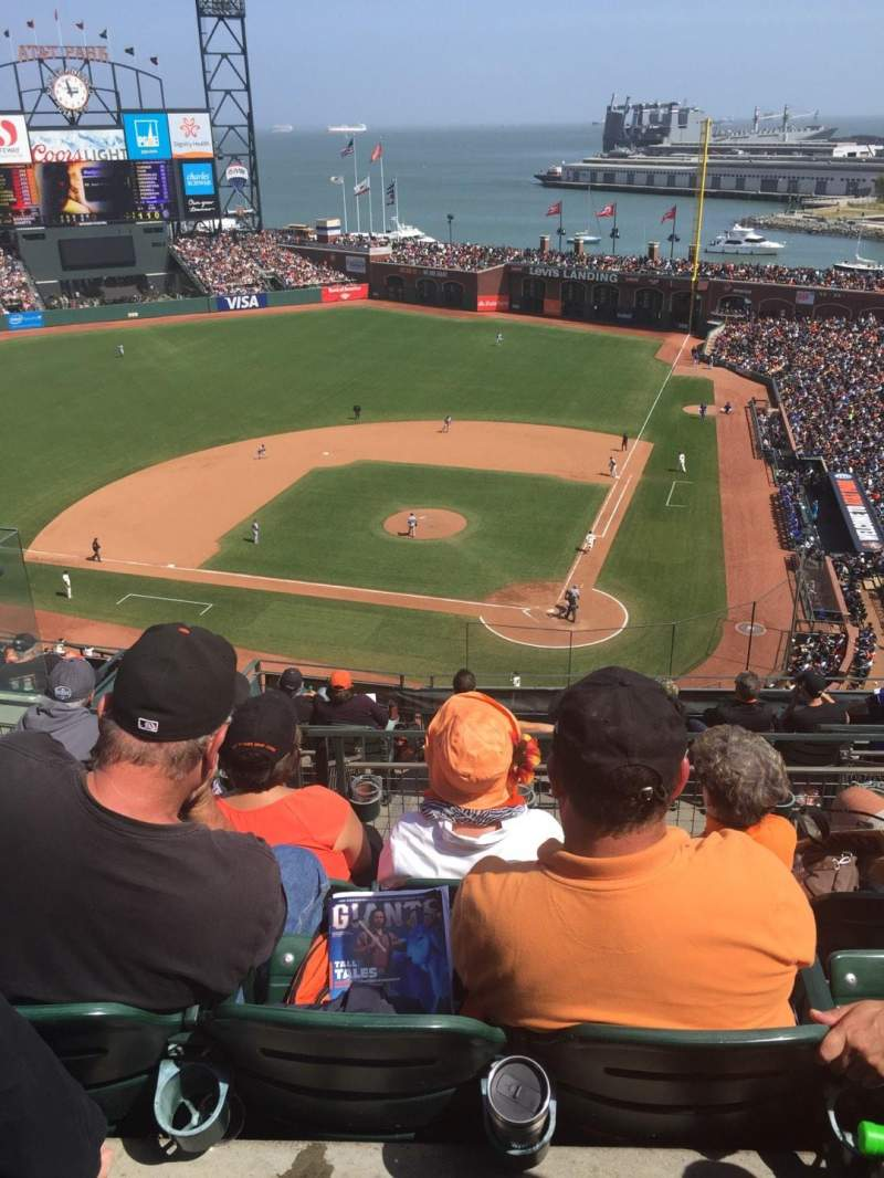 Seating view for AT&T Park Section VR Row 5 Seat 9