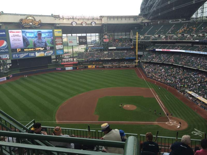 Seating view for Miller Park Section 428 Row 9 Seat 14