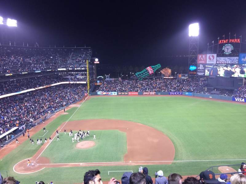 Seating view for AT&T Park Section 308 Row 6 Seat 6