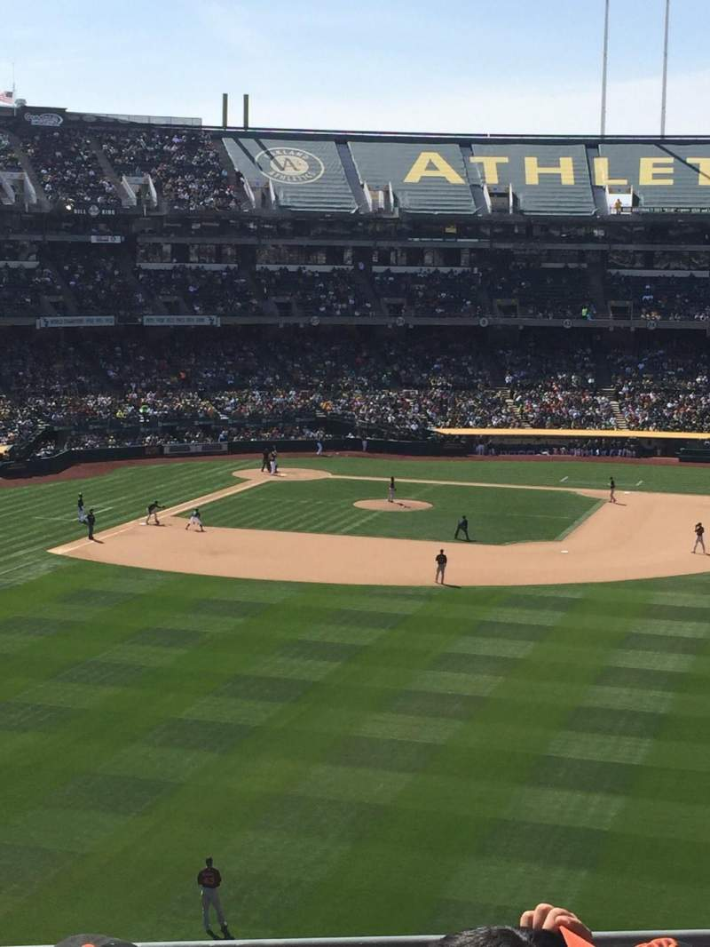 Seating view for Oakland Alameda Coliseum Section 248 Row 5 Seat 13