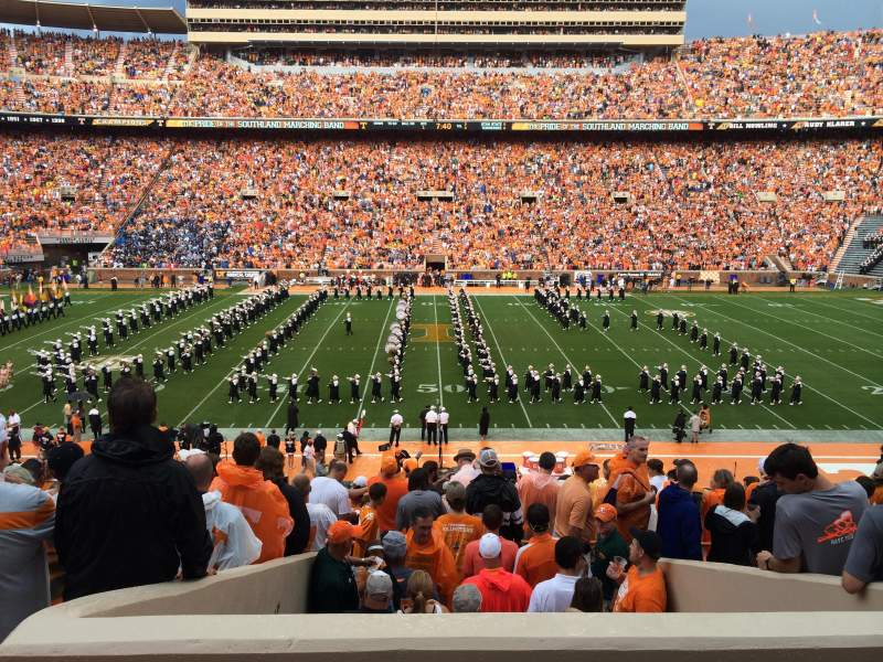 Seating view for Neyland Stadium Section U