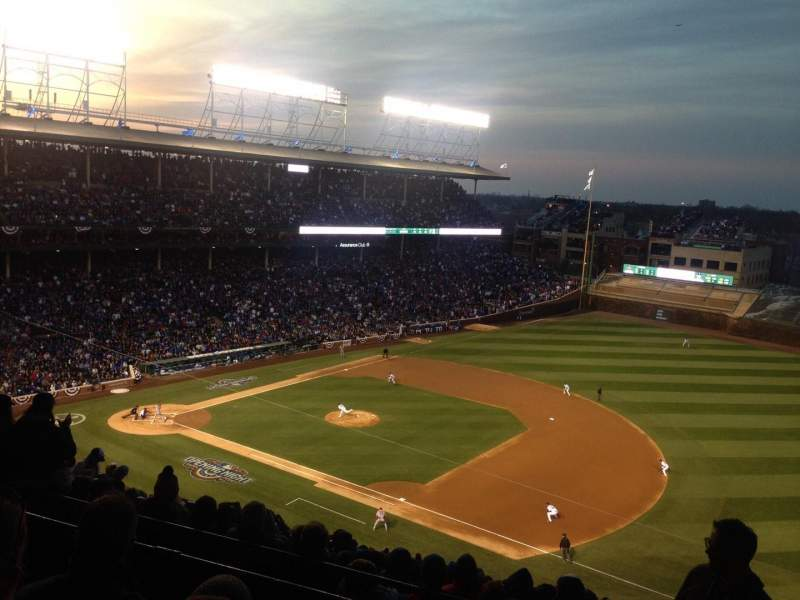 Seating view for Wrigley Field Section 427R Row 3 Seat 9