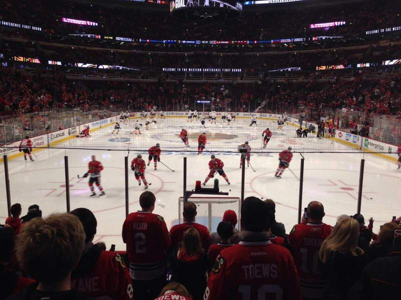 Seating view for United Center Section 106 Row 10 Seat 9