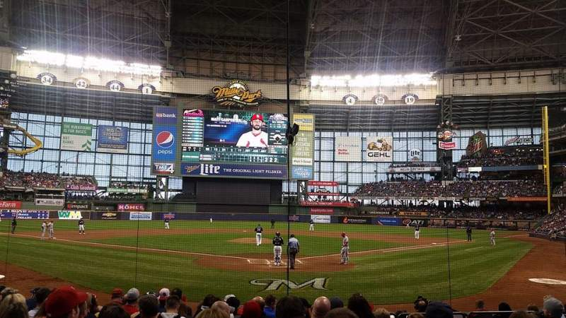 Seating view for MIller Park Section 118 Row 112 Seat 5