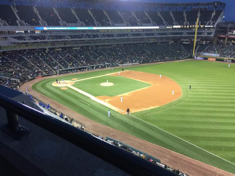 Seating view for Guaranteed Rate Field Section 516 Row 1 Seat 10