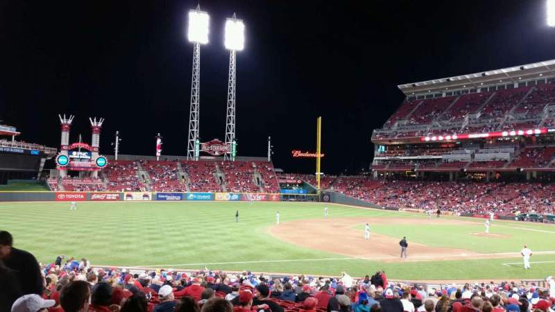 Seating view for Great American Ball Park Section 113 Row FF Seat 16