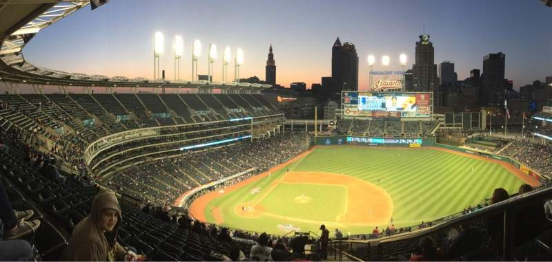 Seating view for Progressive Field Section 546 Row U Seat 4