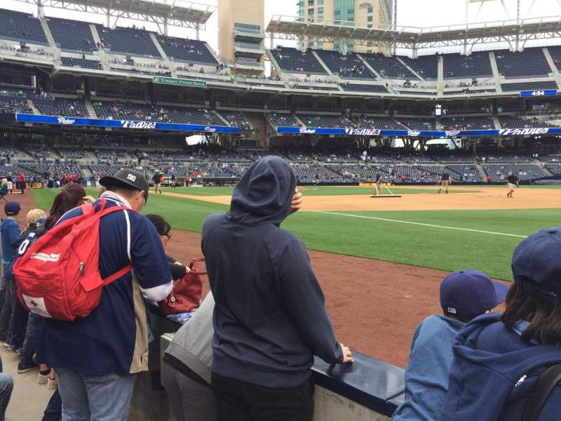 Seating view for PETCO Park Section 115 Row 2 Seat 12