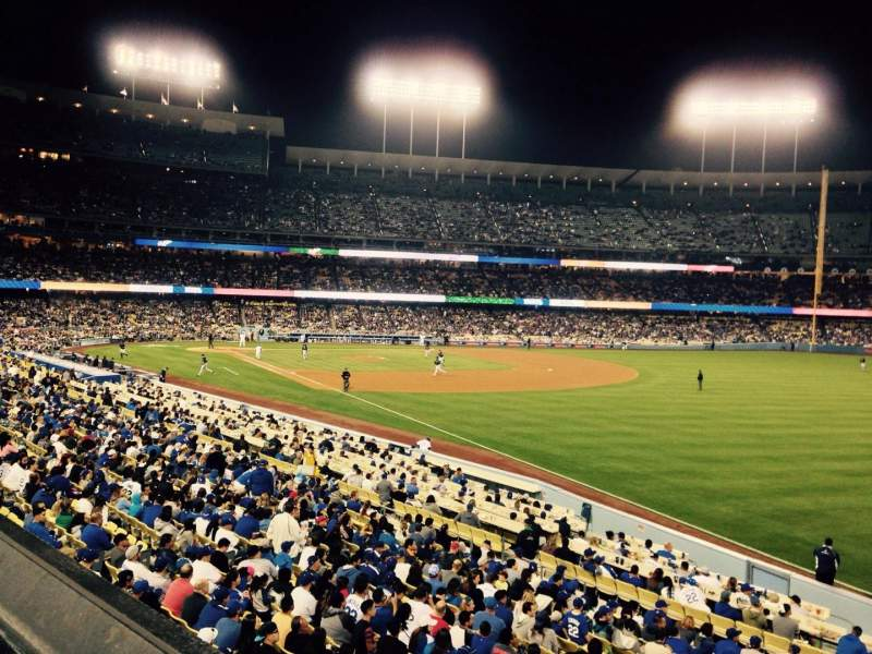 Seating view for Dodger Stadium Section 160LG Row A Seat 1