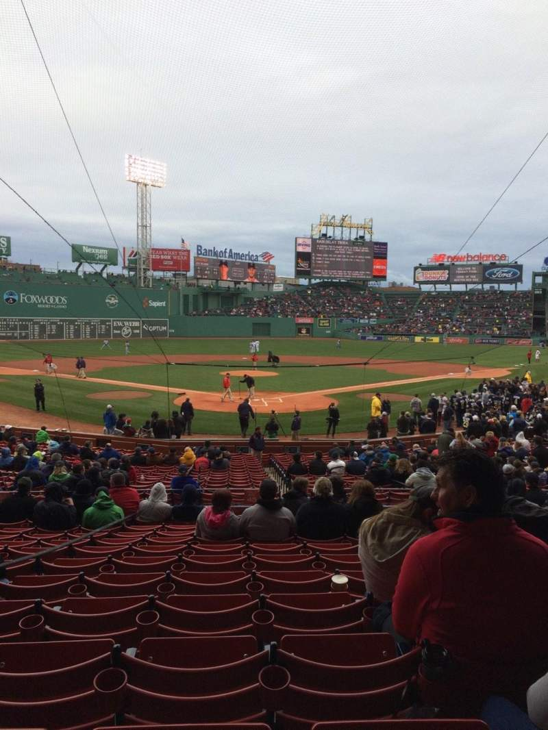 Seating view for Fenway Park Section Loge Box 131 Row MM