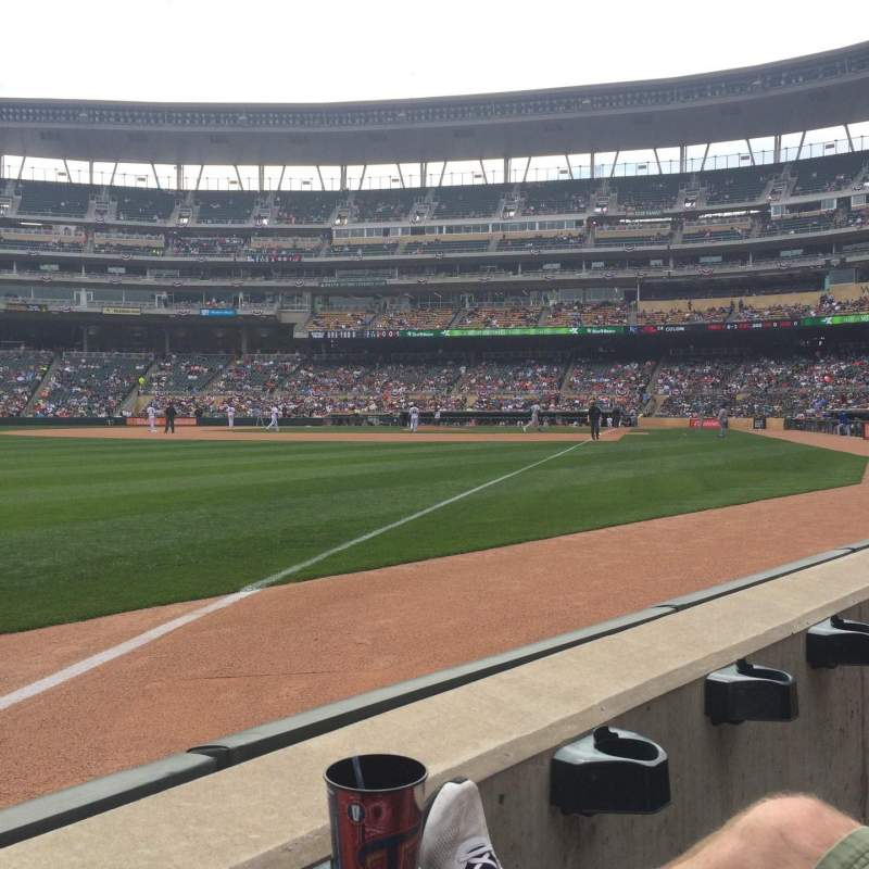 Seating view for Target Field Section 126 Row 1 Seat 4
