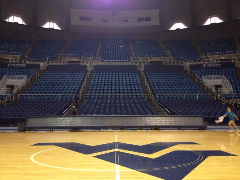 Seating view for WVU Coliseum Section Court Row 1 Seat 1
