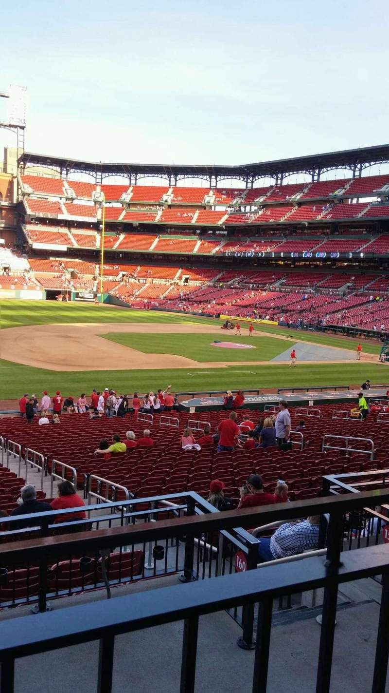 Seating view for Busch Stadium Section 160 Row 20 Seat 8