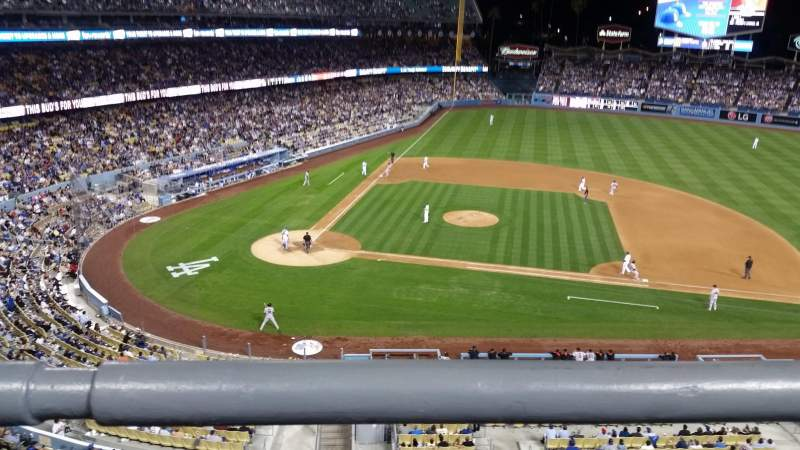 Seating view for Dodger Stadium Section preferred reserve mvp 16 Row A Seat 1