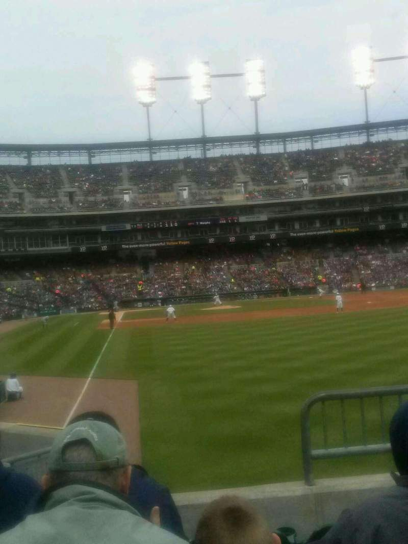 Seating view for Comerica Park Section 110 Row 36 Seat 5,6