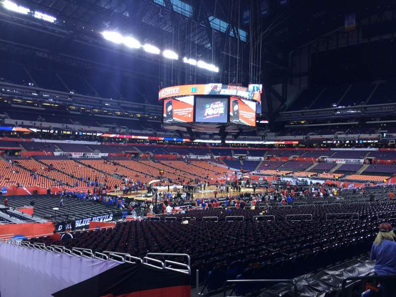 Seating view for Lucas Oil Stadium Section 148