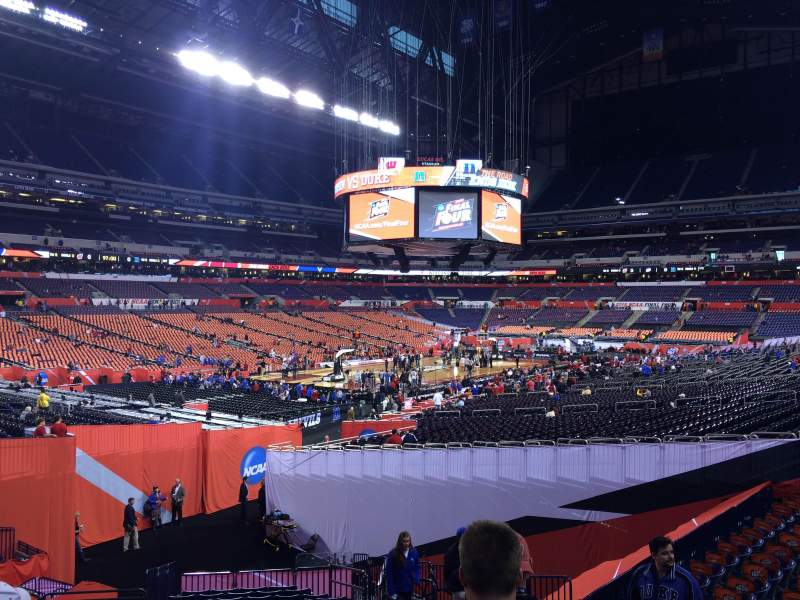 Seating view for Lucas Oil Stadium Section 151