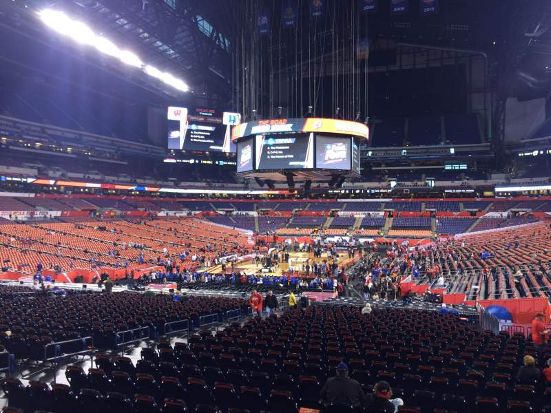 Seating view for Lucas Oil Stadium Section 152