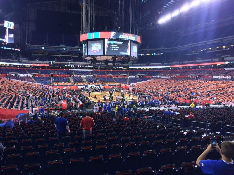 Seating view for Lucas Oil Stadium Section 102