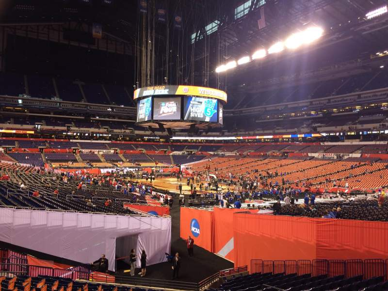 Seating view for Lucas Oil Stadium Section 105